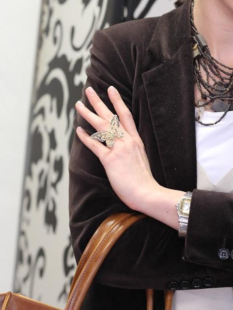 pierścionek z motylem, modny pierścionek z motylem