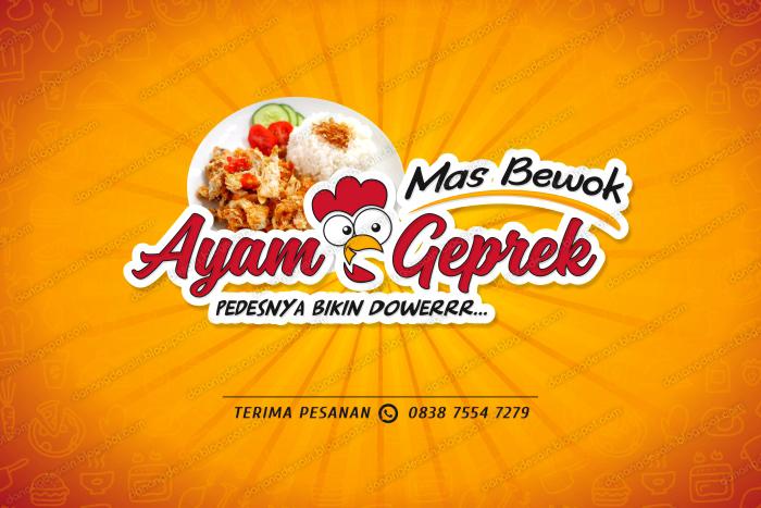 Contoh Desain Spanduk Banner Ayam Geprek - Contoh Desain ...
