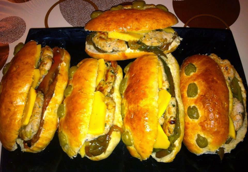 Recette des sandwichs au piments fort, poulet et fromage