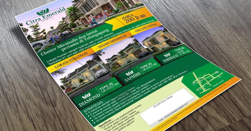 450+ Desain Brosur Perumahan Online Gratis