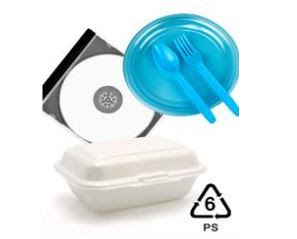 nomor Simbol plastik PS dan contohnya