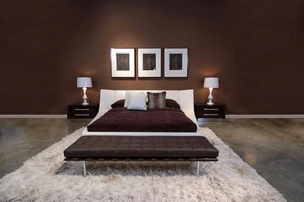 habitación color chocolate