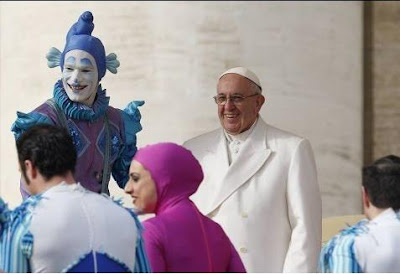 Pope and clowns