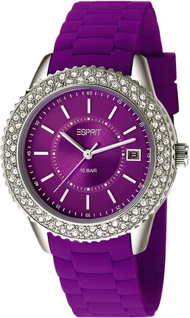 Esprit Timewear Marin Glints Purple: Price INR 7,295
