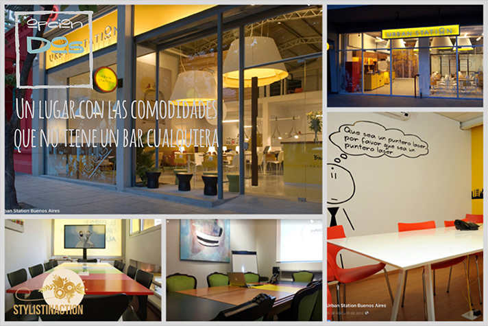 Espacios de trabajo - coworking space en Buenos Aires - fuente fotos Urban Station - post by Stylistinaction