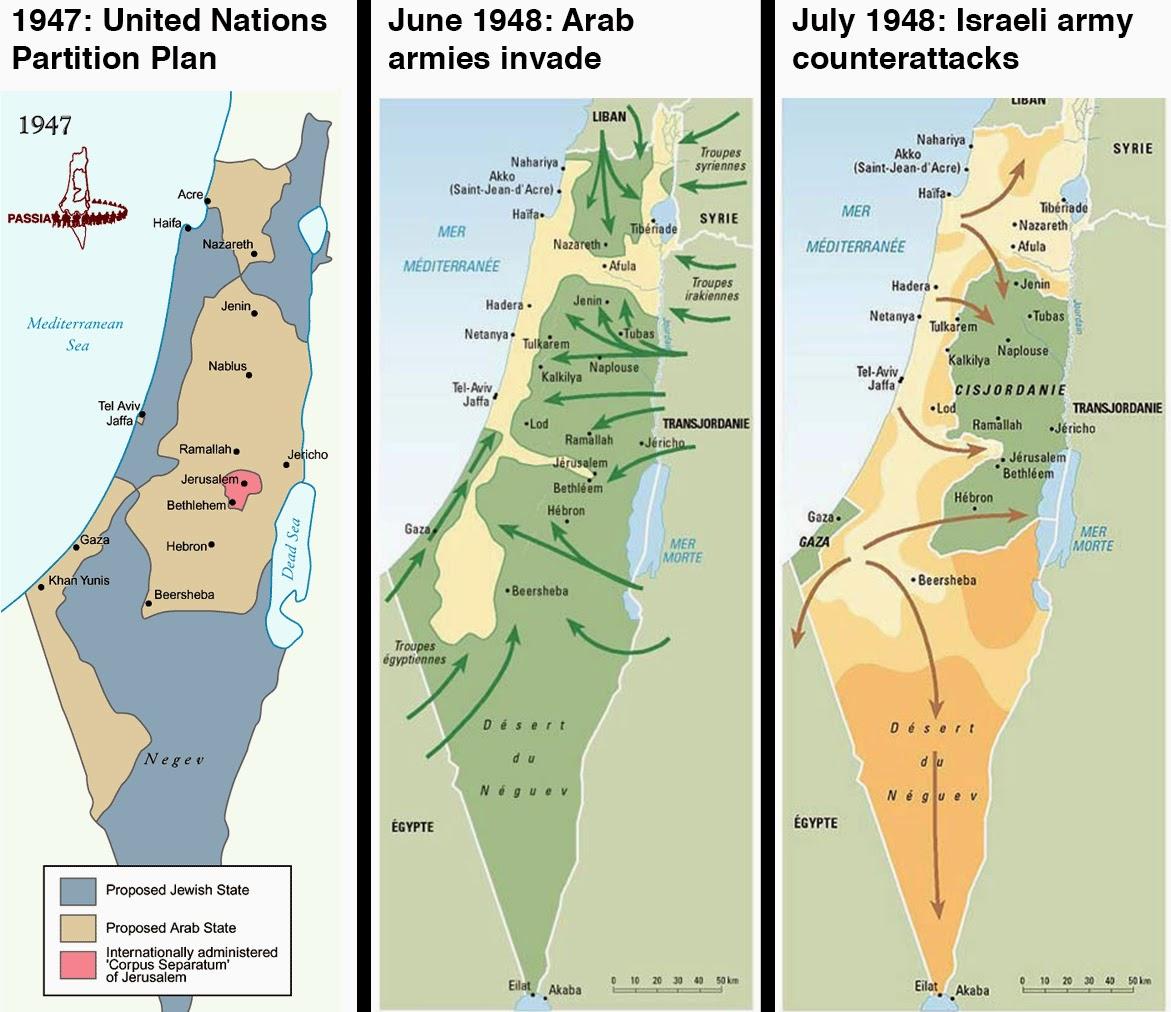 palestina e israel mapa Professor Wladimir   Geografia: MAPAS de Israel e Palestina palestina e israel mapa