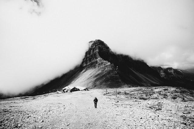 Dolomity Brenty. Madonna di Campiglio. Włochy. Czarno-biała fotografia krajobrazu. fot. Łukasz Cyrus