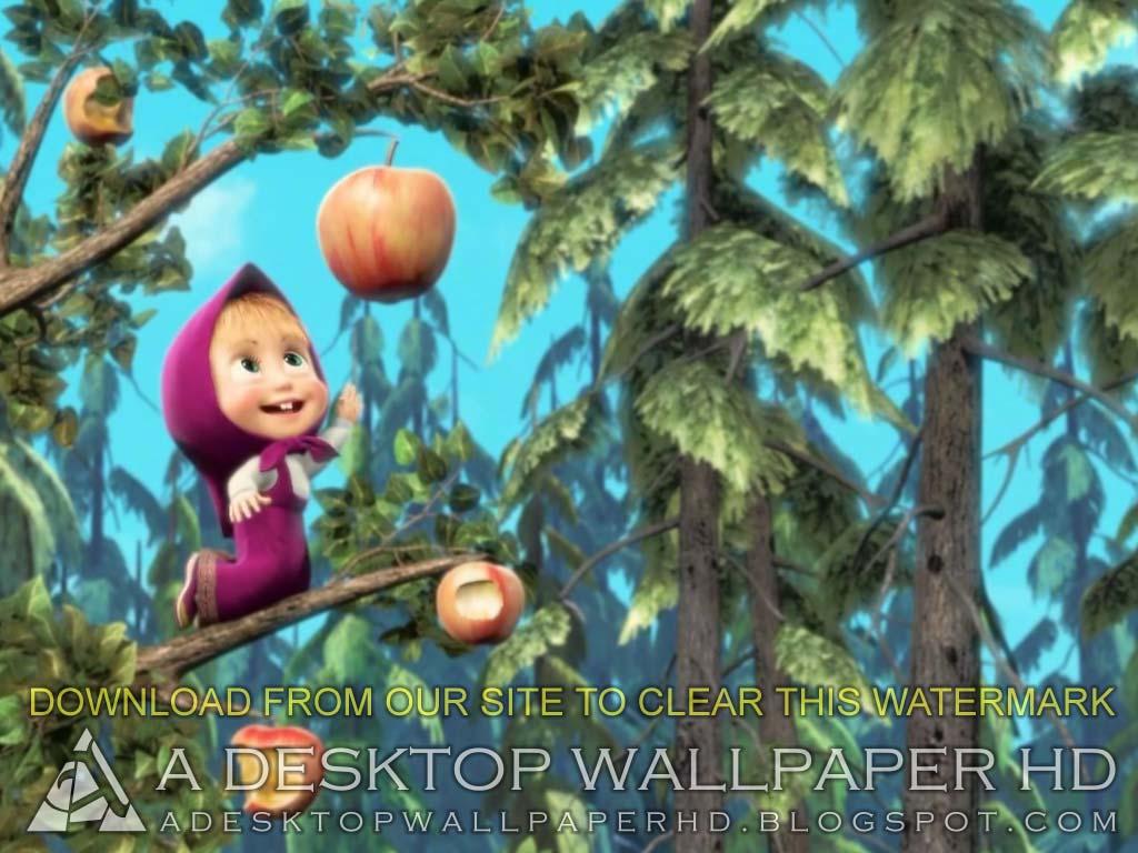 Cute Baby Dolphin Wallpaper Masha And The Bear Apple Cartoons Desktop Wallpaper Hd