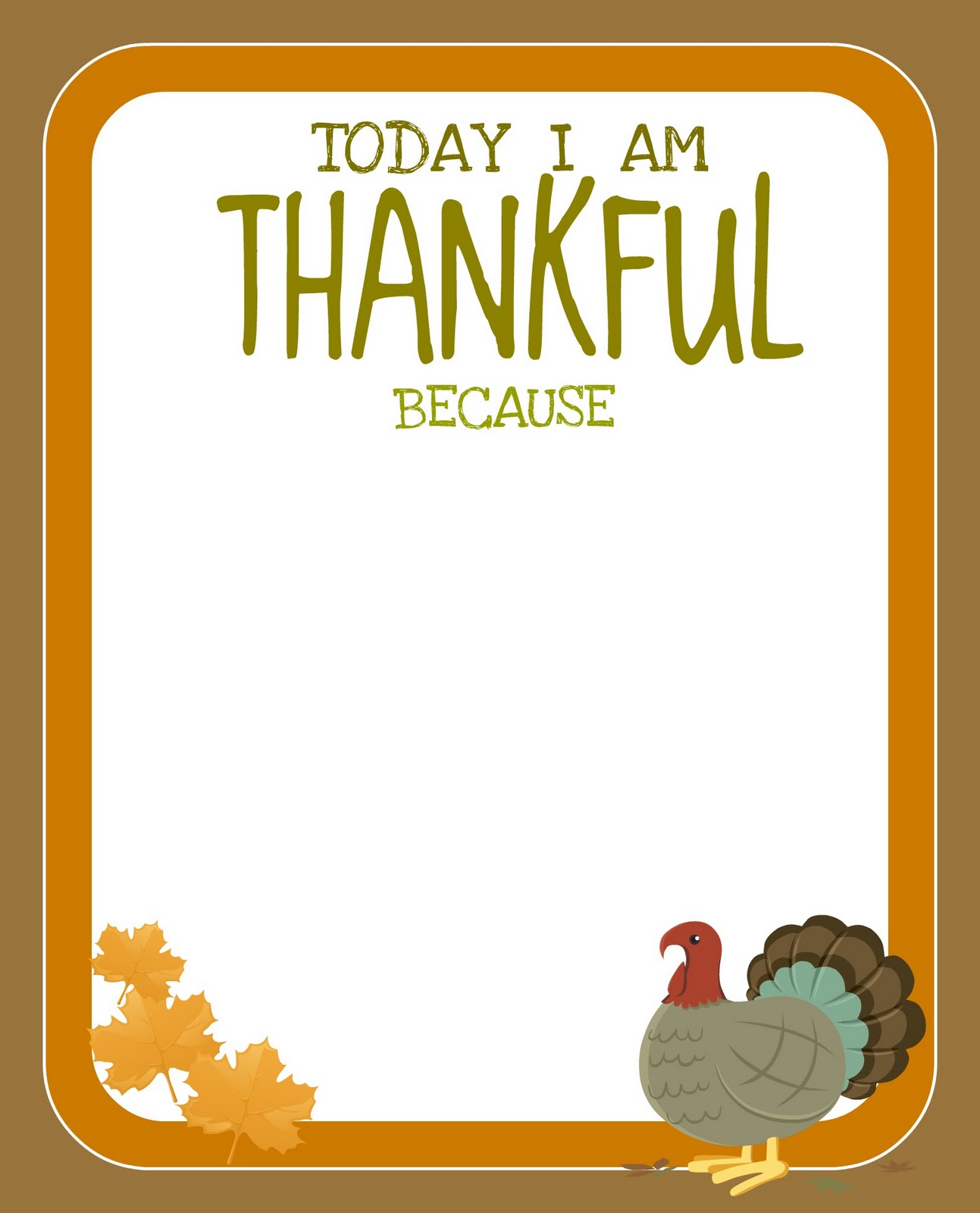 Printable Free Thanksgiving Printable