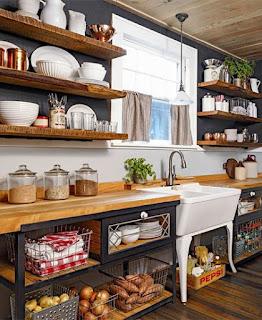 Organize Open Kitchen Cabinets