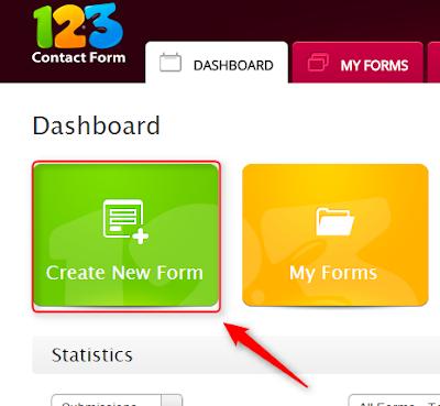 membuat dan memasang contact form di blogger