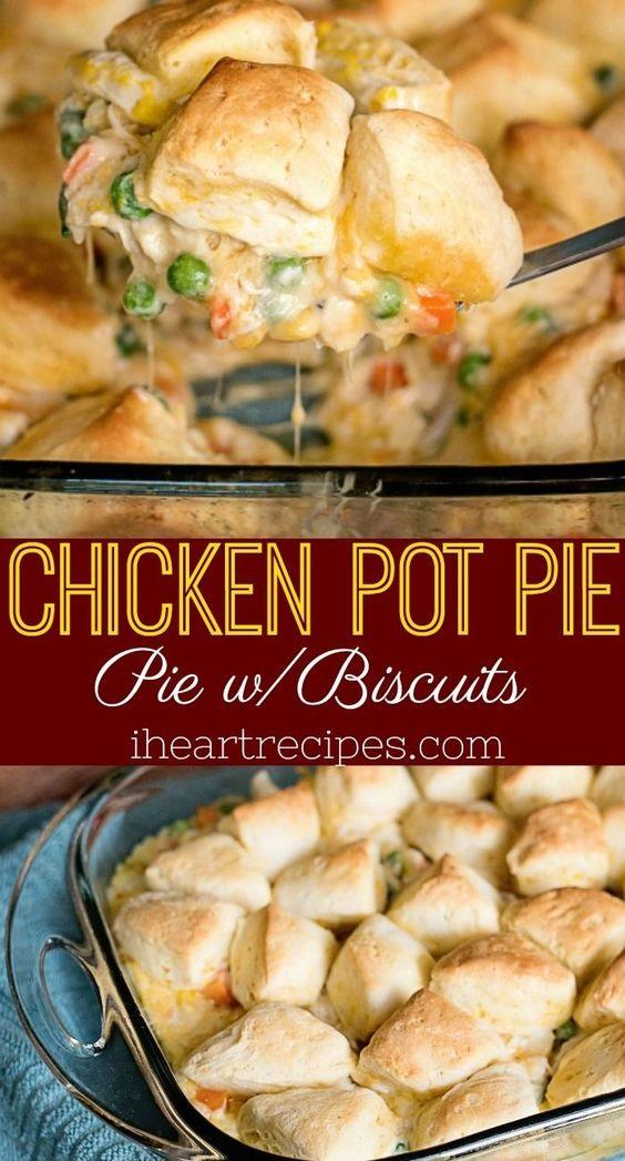 Chicken Pot Pie With Biscuits