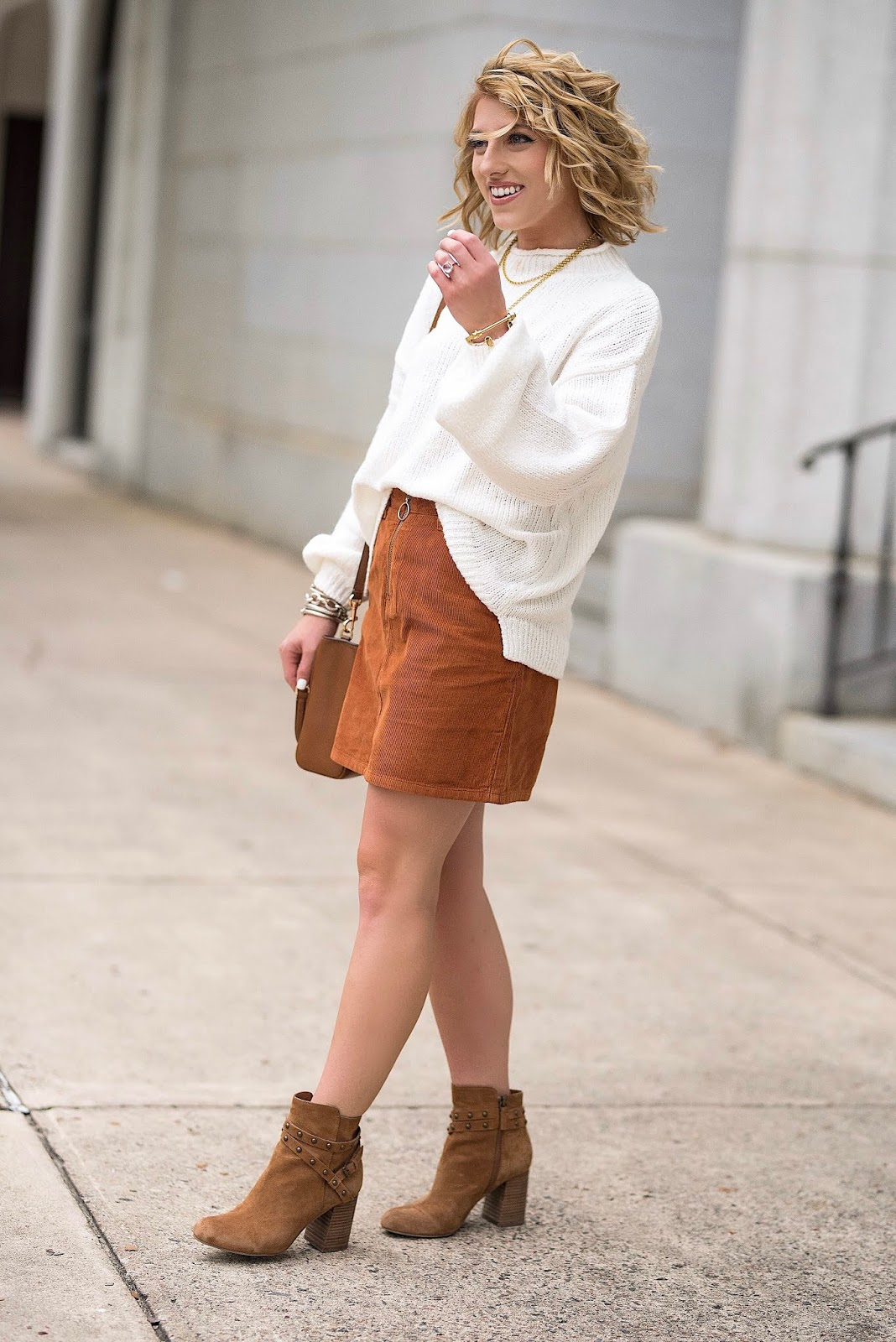 Nordstrom Anniversary Sale: Cord Mini Skirt Styled Two Ways - Something Delightful Blog