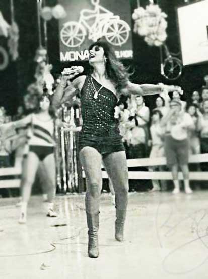 Gretchen jovem no palco