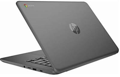 "HP 14"" HD Lightweight Chromebook Laptop Dengan Processor Intel Celeron Dual-Core N3350 Up to 2.4 GHz"