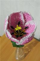Тюльпан параллельным плетением. Схемы