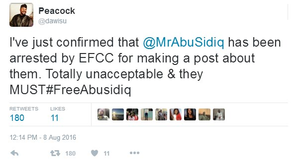 #FreeAbusidiq: Outrage as blogger Abubakar Sidiq Usman gets arrested by EFCC over political comments