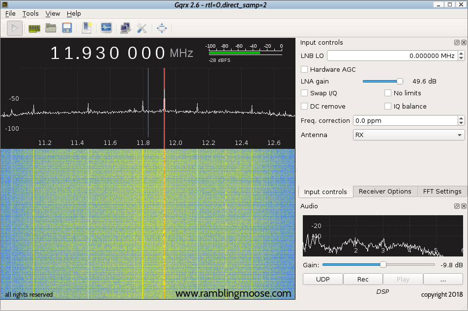 Rambling Moose: Installing a Software Defined Radio on Debian Linux