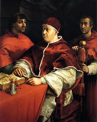 Raphael - portrait du pape Leon X,c.1518-1519