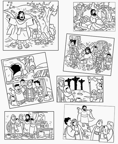 easter story coloring pages | My Little House: Easter 2014