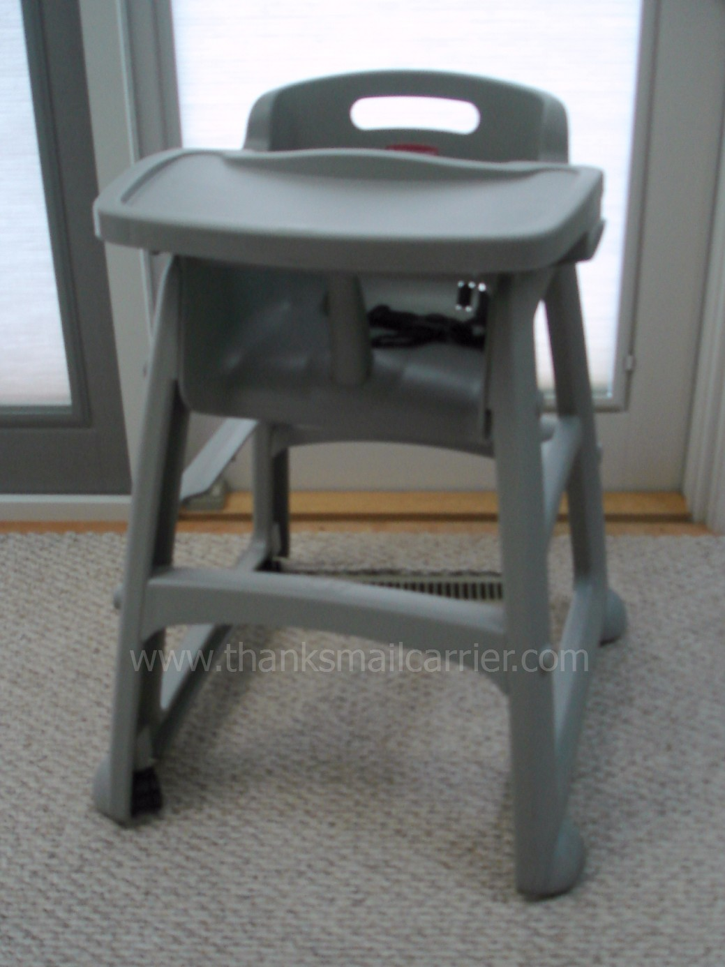 Restaurant High Chair With Tray Monte Rocking Canada Thanks Mail Carrier Rubbermaid And From When It Comes To Chairs This Is One That You Might Typically Expect Find Only In A But I Love The Idea Of Having At Home