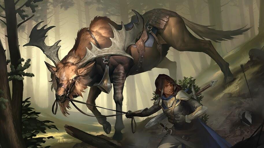 Greathorn Companion, Legends of Runeterra, 4K, #7.1843