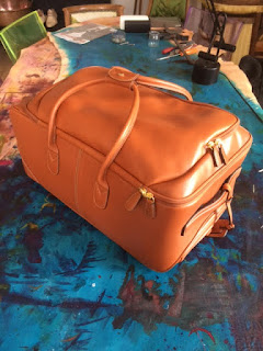 Bric's trolley, luggage, patina, paulus bolten, paris, custom made, patinaed bagage