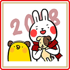 Lazy Rabbit & Mr.Chu CNY Stickers