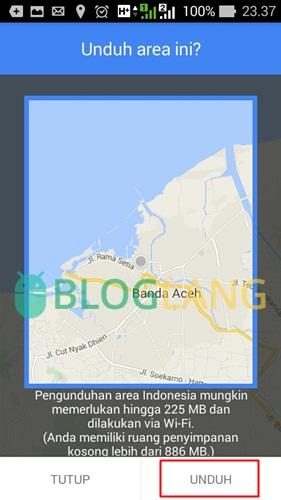 mengunduh peta lokasi google maps