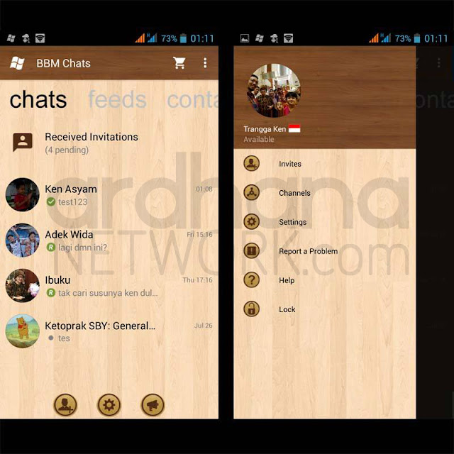 Preview BBM Windows Phone Wood V2.10.0.35