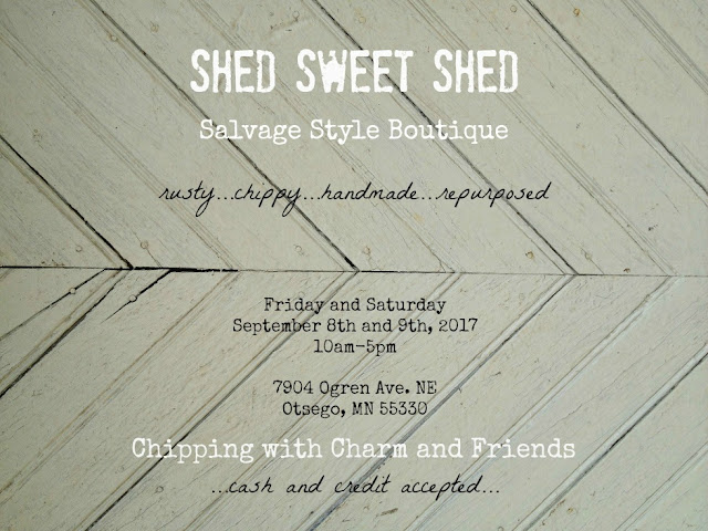 Chipping with Charm:Shed Sweet Shed Boutique 2017, www.chippingwithcharm.blogspot.com