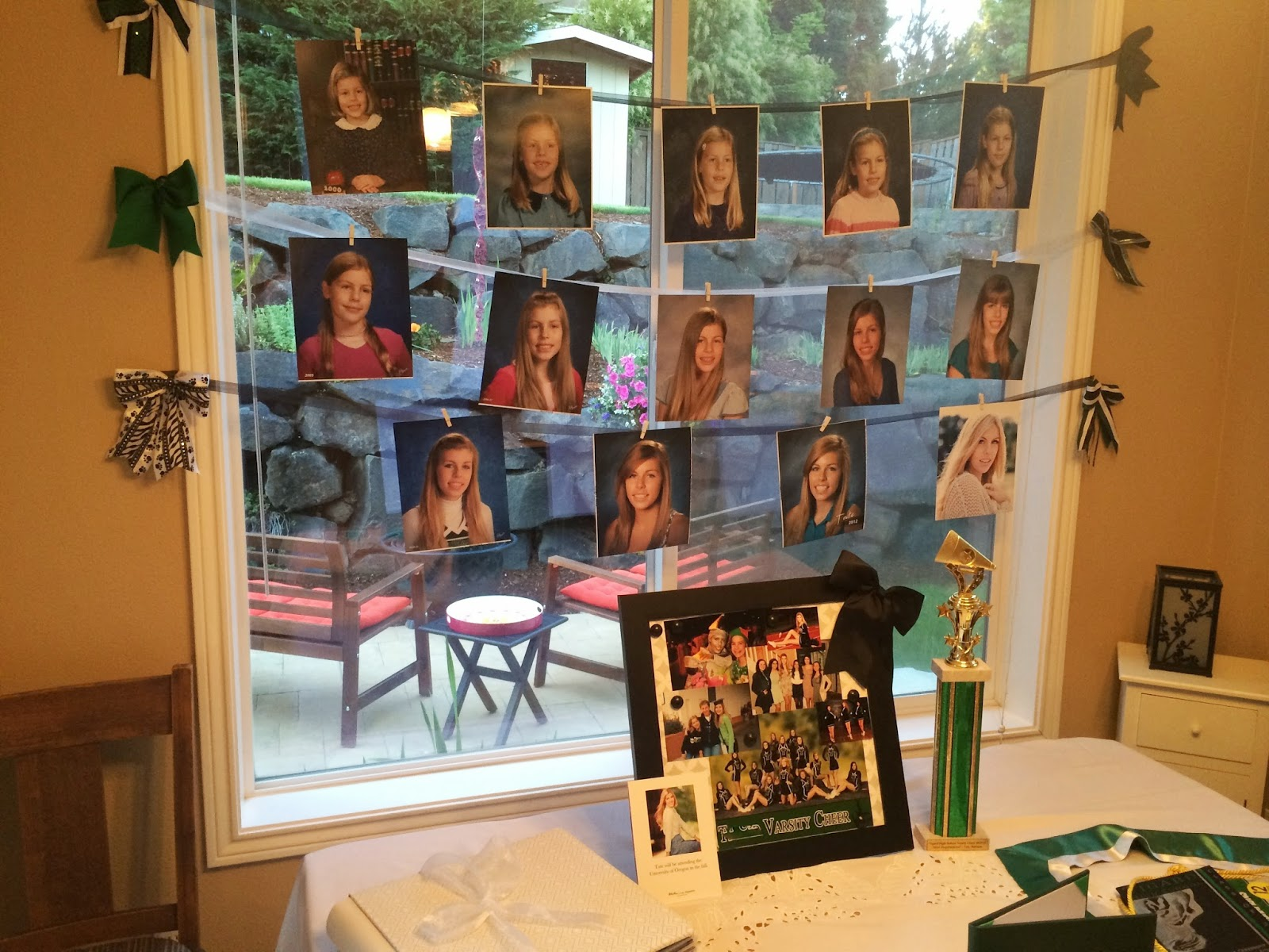 a dash of scraps: High School Graduation Party Photo Displays