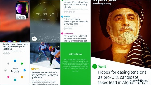 New News Android app with Strip View names Yahoo News Digest