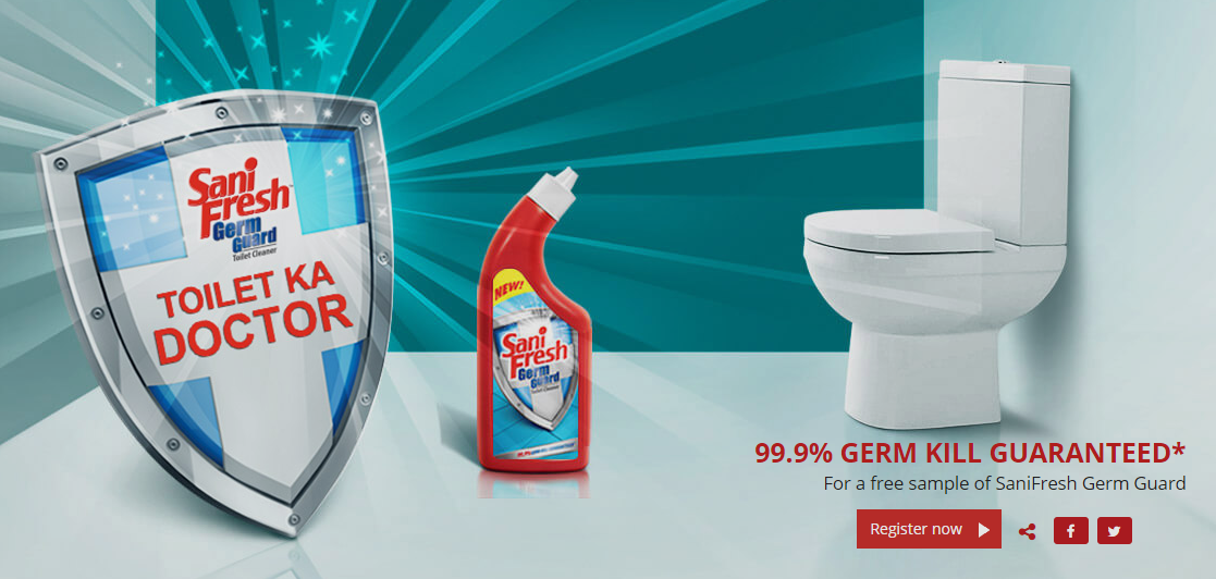 Sanifresh Germ Guard Best Toilet Cleaner Free Sample India