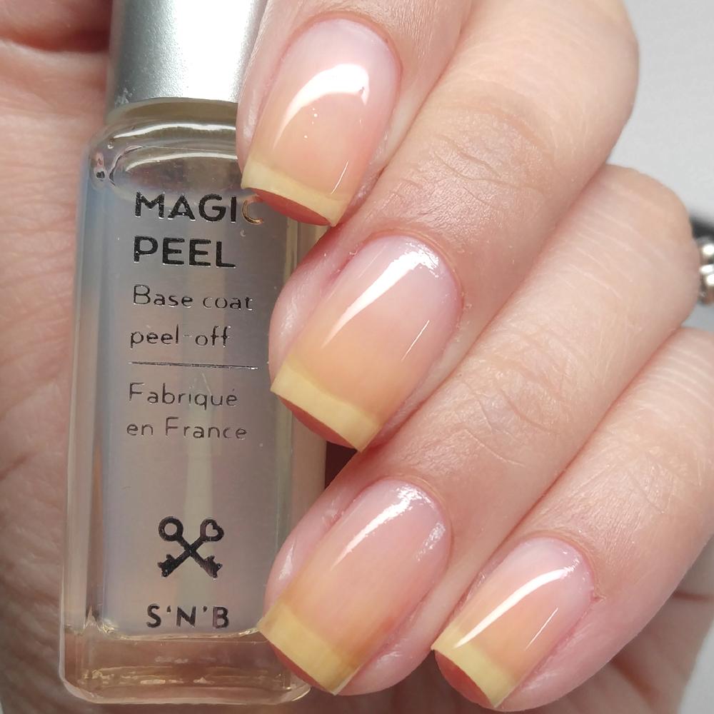 S\'N\'B Magic Peel-Off Basecoat Review - Manicured & Marvelous
