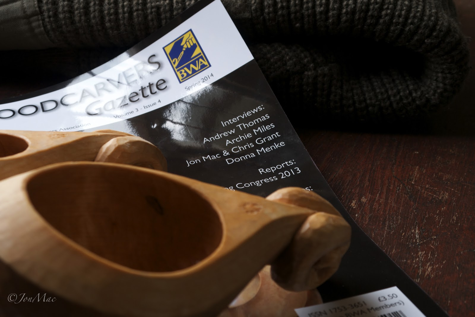 Woodcarvers gazette+Kuksa