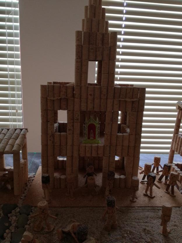 Mosteiro em rolhas de Cortiça