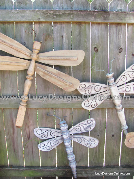 Dragonfly Ceiling Fan Blades Table Legs