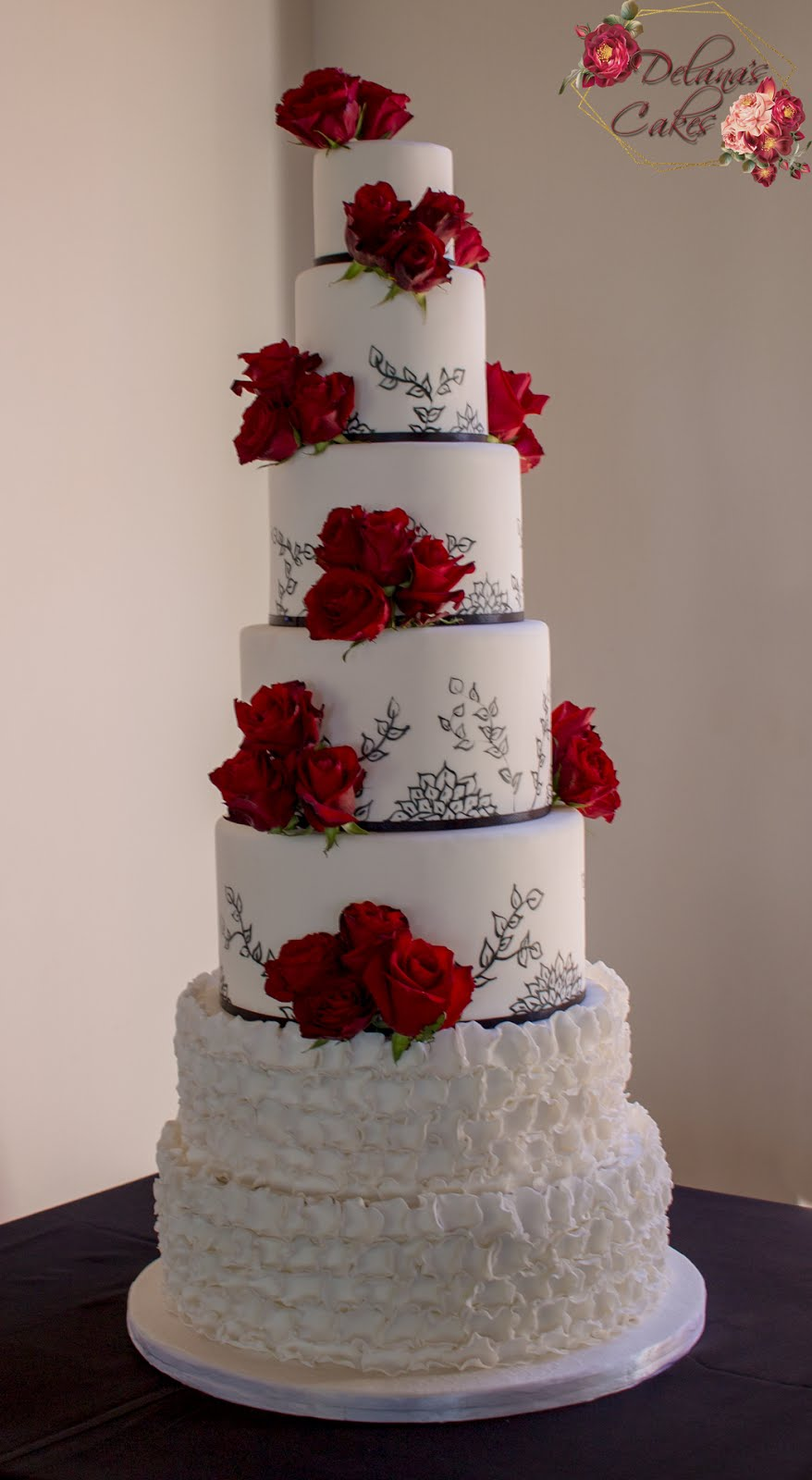 Delana S Cakes 7 Tier Wedding Cake At Hoogeind Manor
