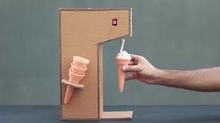 membuat sendiri mesin es krim sederhana dari kardus