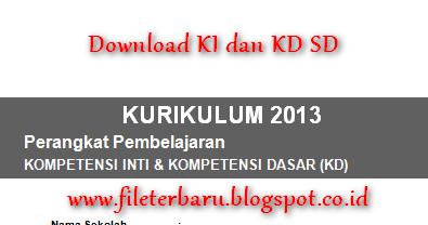 Download Pemetaan Ki Dan Kd Sd Kelas 2 Kurikulum 2013