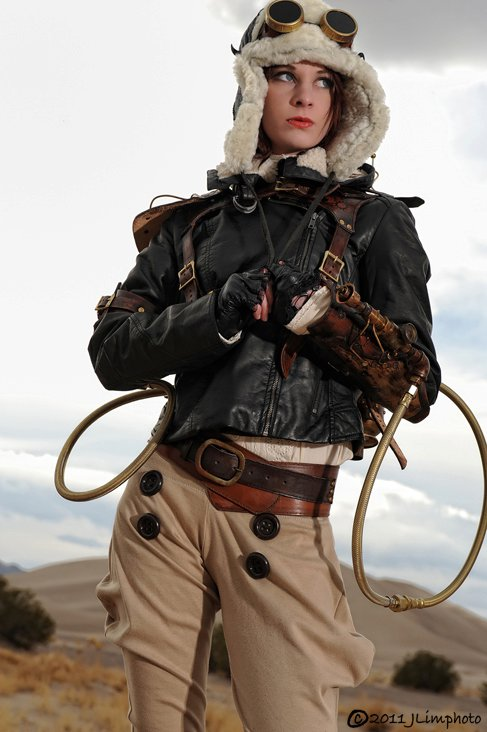 womens steampunk clothing - fashion, steampunk rocketeer cosplay