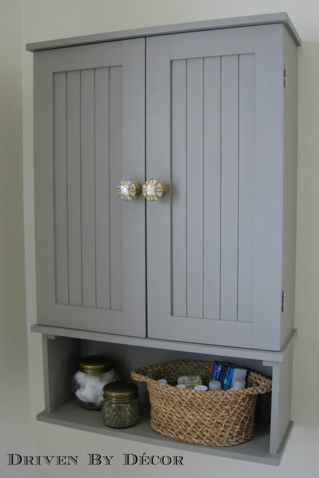 Chalk Paint Bathroom Cabinets Part - 44: Annie Sloan Chalk Paint Bathroom Cabinet Makeover