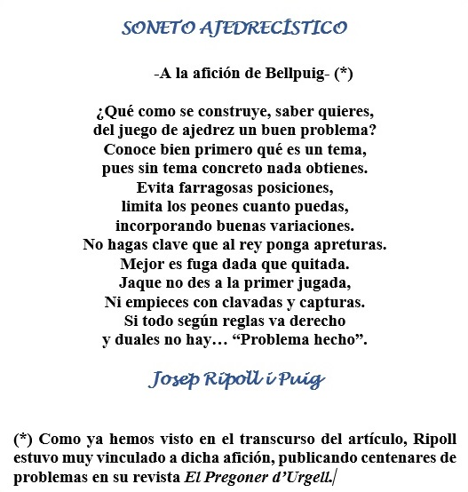 Soneto de Josep Ripoll i Puig