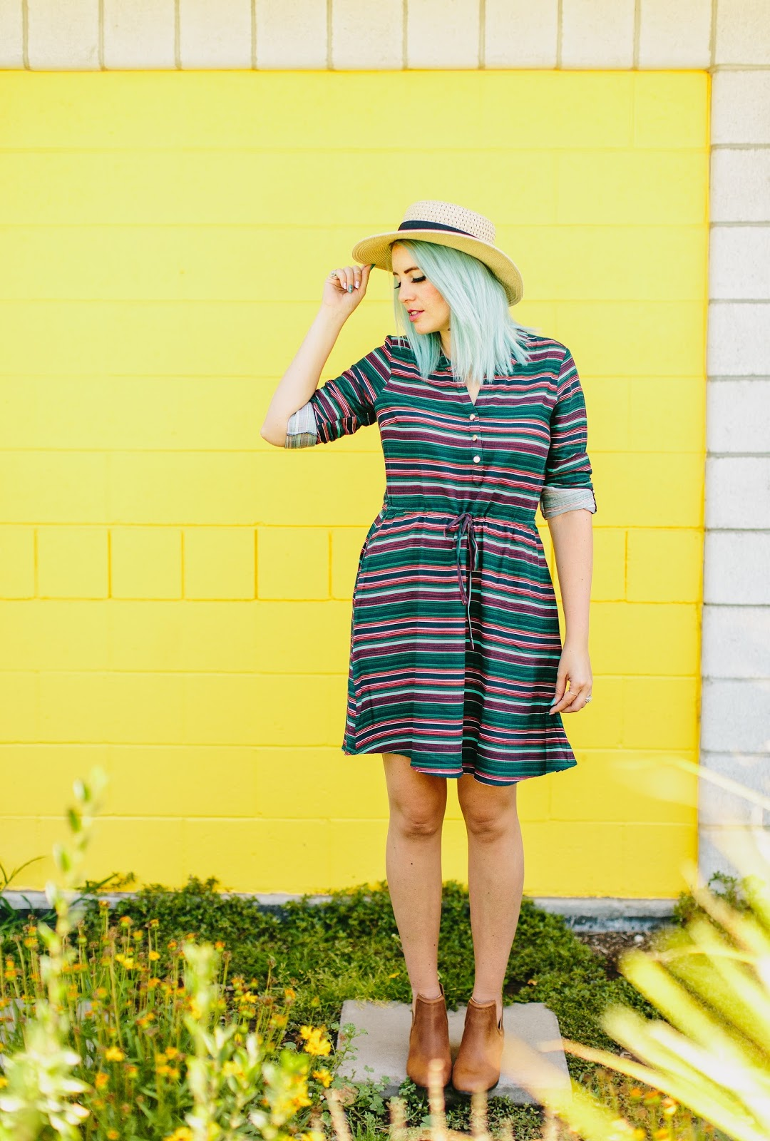 Blue Hair, Mint Hair, Utah Fashion Blogger