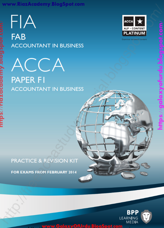 2015-ACCA-F1- ACCOUNTANT IN BUSINESS- REVISION KIT by BPP