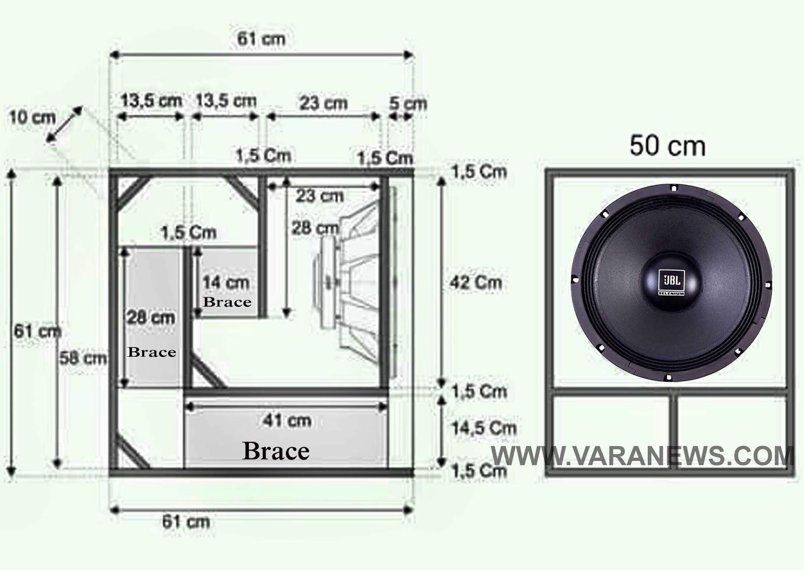 Ukuran Box speaker miniscoop 15 inch