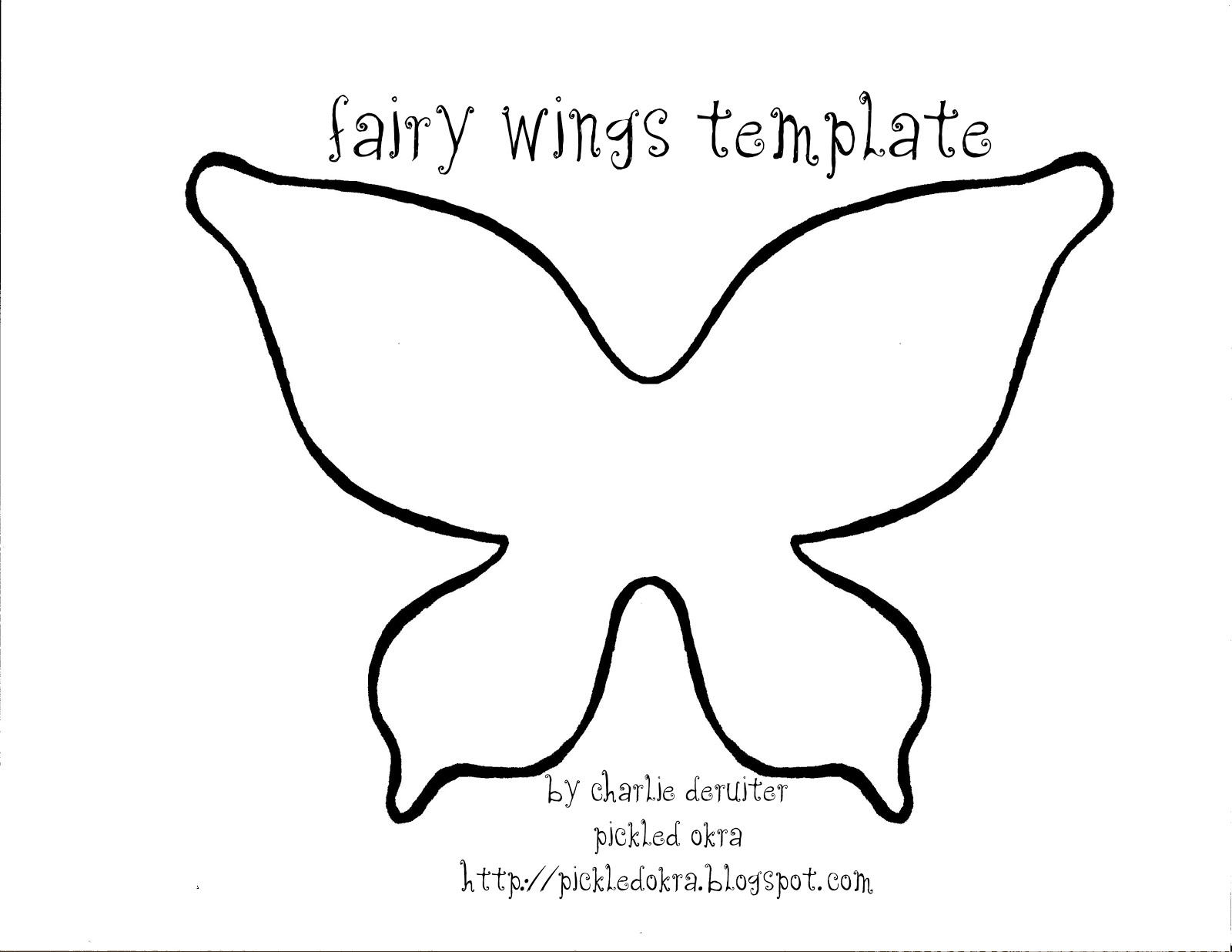 photograph relating to Free Printable Fairy Wings called Martha Stewart Butterfly Template. chocolate decoration