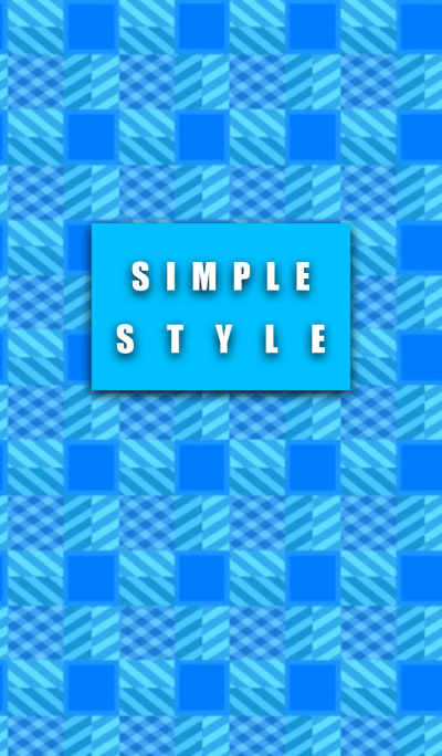 Simple style Blue Bass pattern