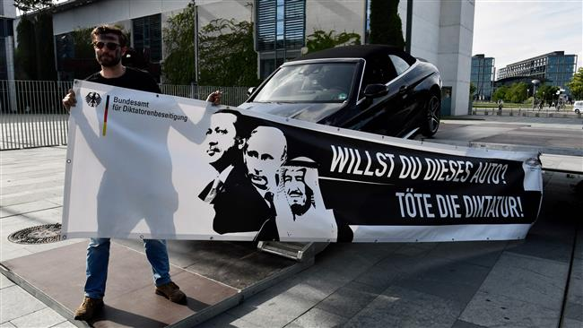 Ankara criticizes German Chancellery in Berlin depicting Turkish President Recep Tayyip Erdogan as a dictator